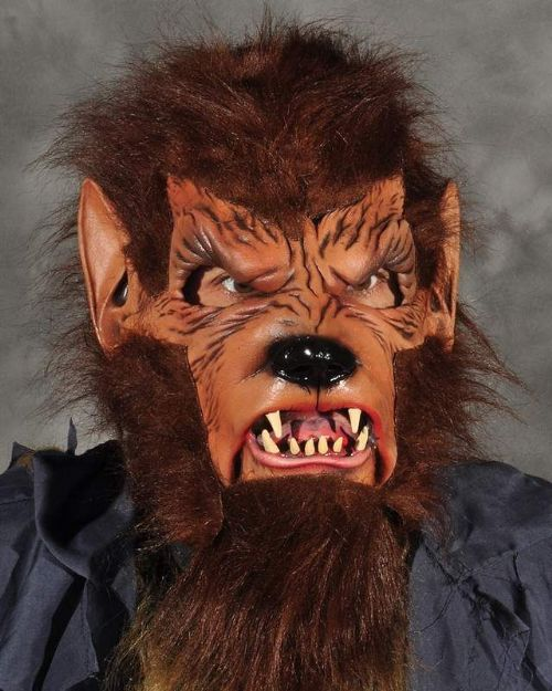 Mask Head Wolfman - Werewolf Guillotine Halloween Zombie Body Prop